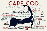 Cape Cod New England Text Fine Art Print