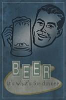 Beer For Dinner Framed Print