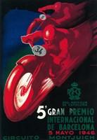 5 Gran Premio Barcelona 1946 Fine Art Print