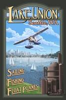 Lake Unions Seattle Fishing Fine Art Print