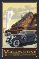Old Faithful Inn Yellowstone Ad Fine Art Print
