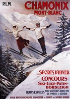 Chamonix Mont-Blanc Sports Fine Art Print
