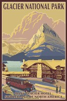 Glacier National Park Ad Fine Art Print