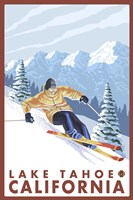 Lake Tahoe Mountain Ski Fine Art Print