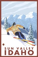 Sun Valley Idaho Ski Fine Art Print