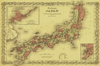 Map of Japan Framed Print