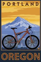 Portland Oregon Bike Ad Framed Print
