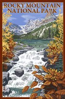 Rocky Mountain Park Waterfall Ad Fine Art Print