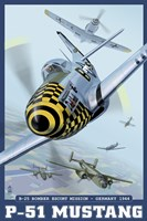 P-51 Mustang Airplane Ad Fine Art Print