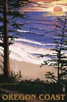 Oregon Coast Sunset Ad Fine Art Print