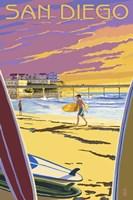 San Diego Beach Ad Fine Art Print