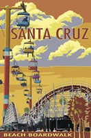 Santa Cruz Boardwalk Framed Print