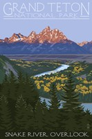Snake River Grand Teton Park Fine Art Print