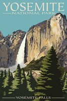 Yosemite Falls Park Ad Fine Art Print