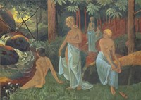 Bathers With White Veils Fine Art Print