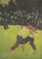 Breton Wrestler,  1891-1892 Fine Art Print