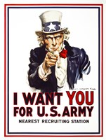 I Want You For U.S. Army Fine Art Print