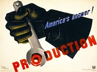Production, America's Answer! Fine Art Print