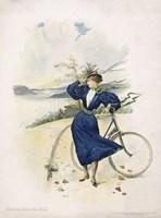 Cycling, Riverside Drive, New York Fine Art Print