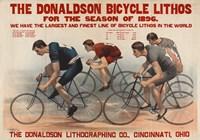 Donaldson Bicycle Lithos for 1896 Season Fine Art Print