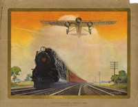 Giant Conquerers of Space and Time Pennsylvania Railroad Fine Art Print