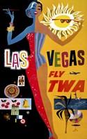 Las Vegas, Fly TWA Fine Art Print