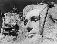 Abraham Lincoln on Mount Rushmore Fine Art Print