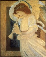Angel With Shofar Fine Art Print