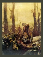 Mural Forest Marines Fine Art Print