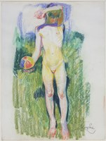 Girl with a Ball Fine Art Print
