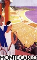 Monte Carlo Tennis Fine Art Print
