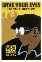 WPA Save Your Eyes Fine Art Print