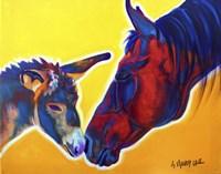 Horse Little Sister Fine Art Print