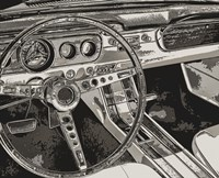 Vintage Car Dashboard Fine Art Print