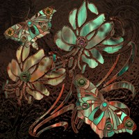 Copper Butterflies Fine Art Print