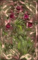 Art Nouveau Pink Floral Fine Art Print