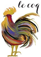 Art Nouveau Rooster I Framed Print
