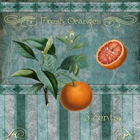 Fresh Oranges Framed Print