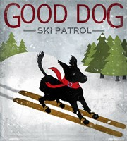 Good Dog Ski Patrol Fine Art Print