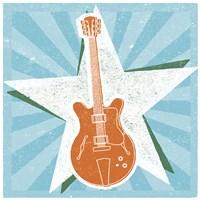 Guitar No. 2 Carnival Style Framed Print
