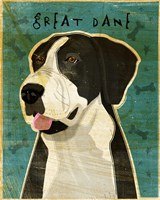 Black Great Dane 2 Fine Art Print