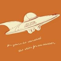 Lunastrella Flying Saucer (square) Fine Art Print