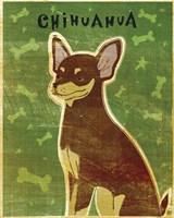 Chihuahua (chocolate and tan) Framed Print