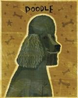 Poodle (black) Fine Art Print