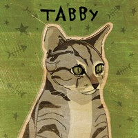 Tabby (grey) Fine Art Print