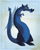 Blue Dragon Framed Print