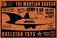 Quelstar Mars Saucer Fine Art Print