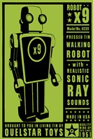 Quelstar X9 Tin Toy Robot Fine Art Print