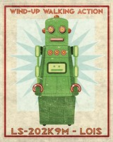 Lois Box Art Robot Framed Print