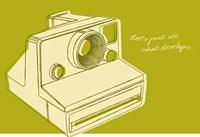 Lunastrella Instant Camera Framed Print